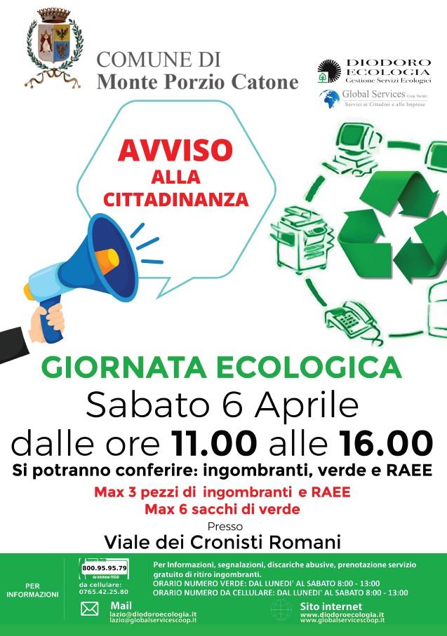 Monte Porzio Catone: giornata ecologica 6 Aprile