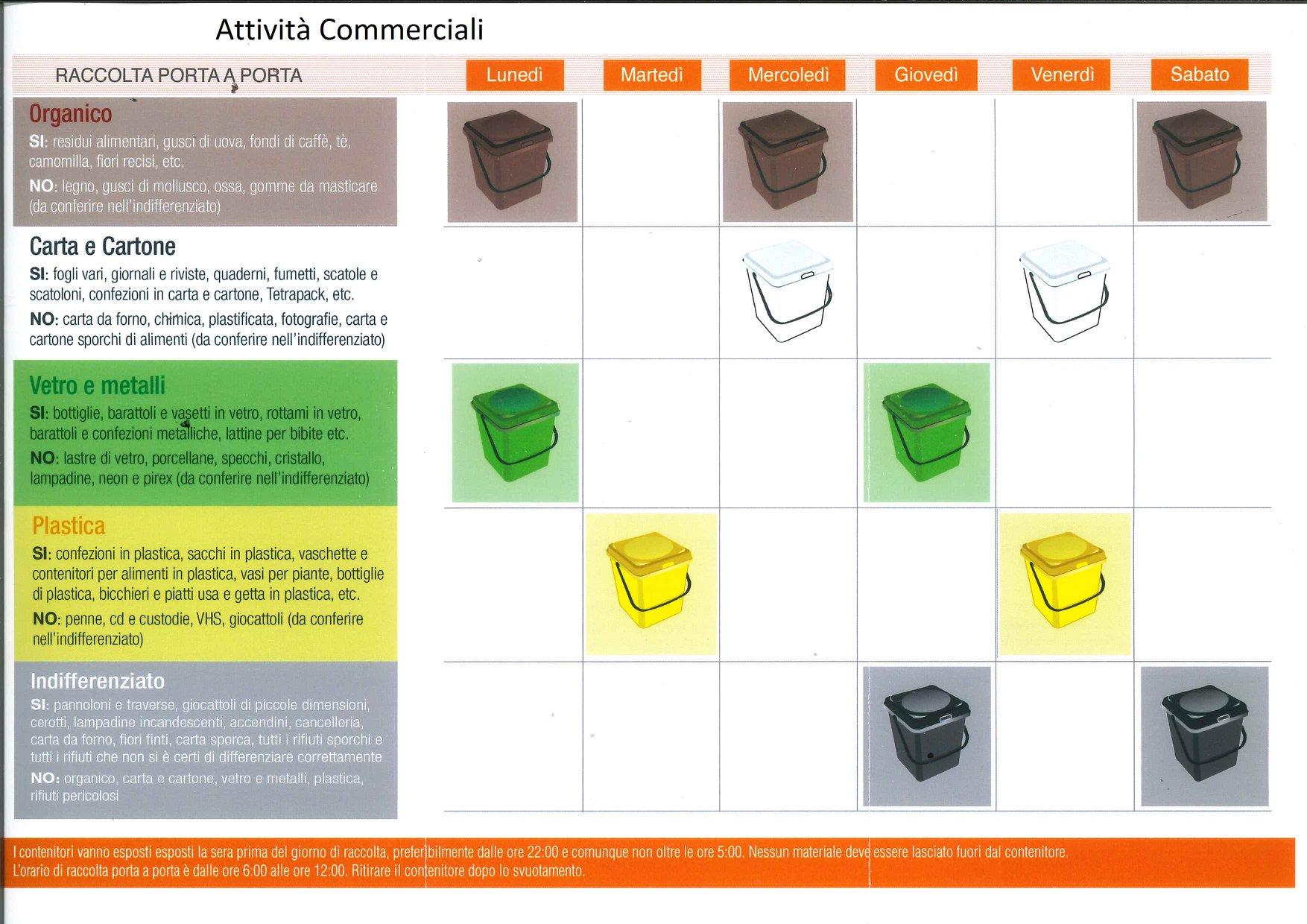 Ecocalendario servizio di raccolta porta a porta   Diodoro Ecologia