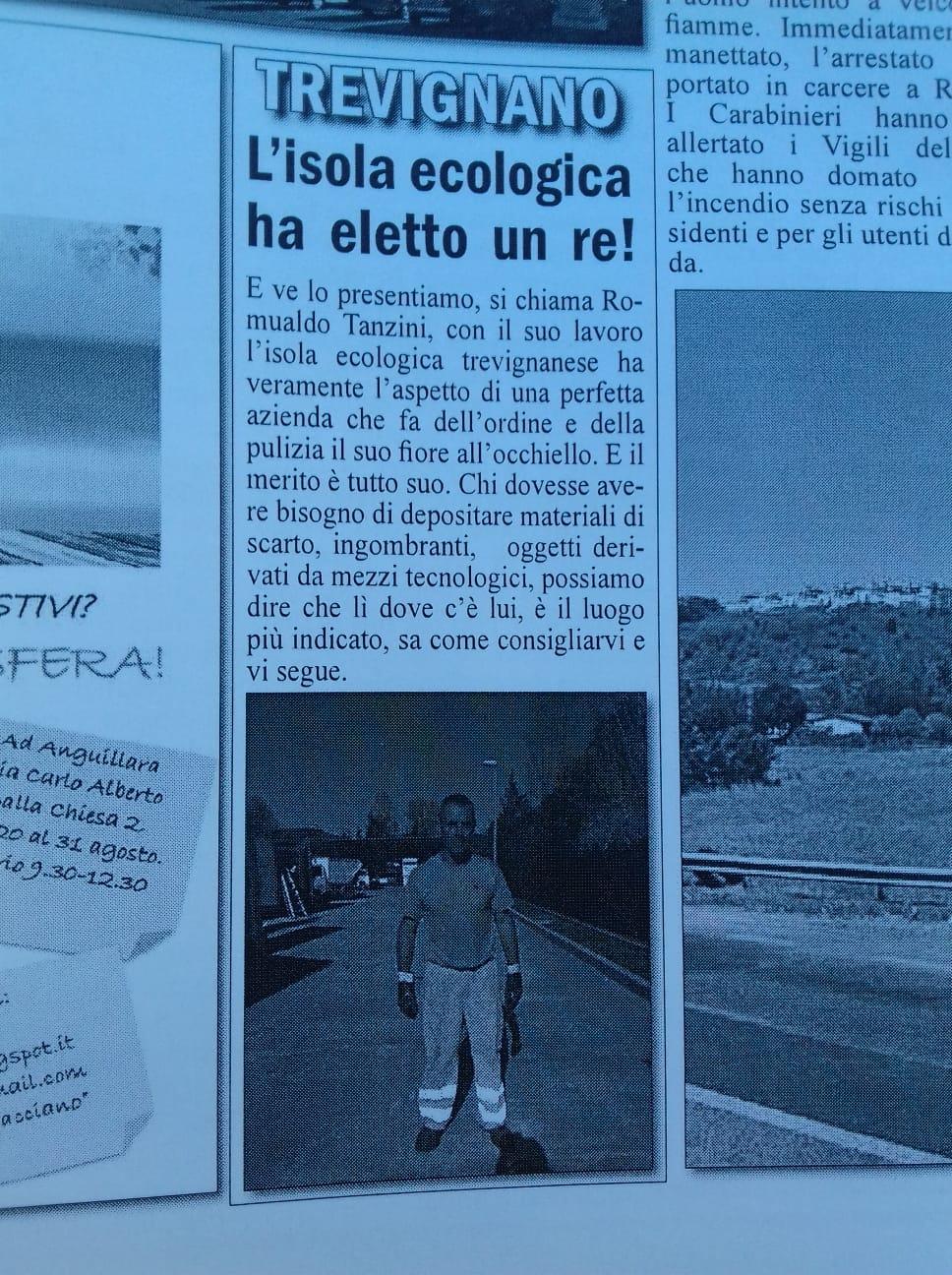 Trevignano Romano: l'isola ecologica ha il suo RE!!!